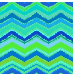 Hand drawn zigzag pattern in aqua blue vector