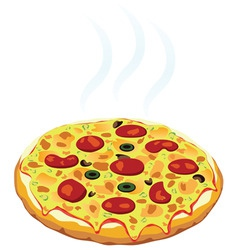hot italian pizza vector image vector image