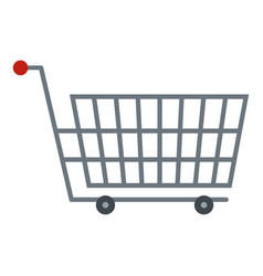 Large metal shopping trolley icon isolated vector