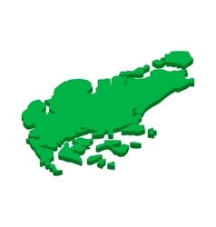 Map of Singapore icon isometric 3d style vector image vector image