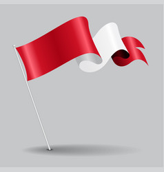 Peruvian pin wavy flag vector