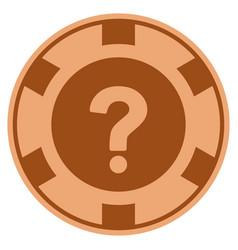 query copper casino chip vector image