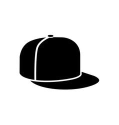 Rap cap icon vector