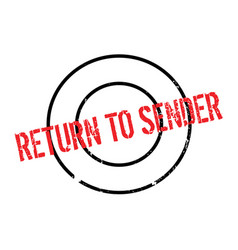 Return to sender rubber stamp vector
