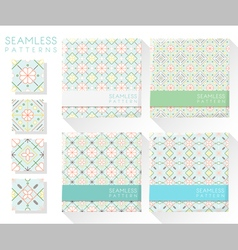 Set of colorful seamless patterns 1 vector