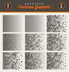 Set of seamless textures gradient vector image