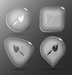 Trowel glass buttons vector