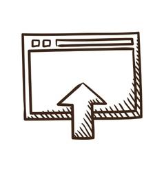 Upload symbol vector image vector image