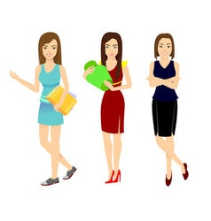 young girls set vector image vector image