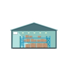 Worldwide warehouse deliver storehouse building vector