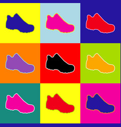 Boot sign  pop-art style colorful icons vector