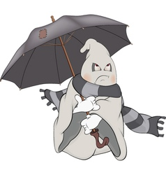 Spirit and an umbrellacartoon vector
