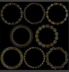 Gold paisley frames vector
