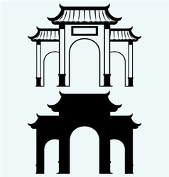 Ancient chinese gate vector