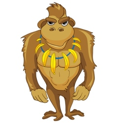 Cartoon character monkey vector