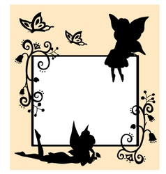Fairies silhouette vector
