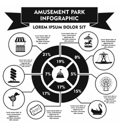Amusement park infographic elements simple style vector