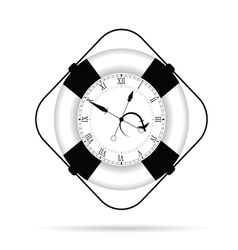 Clock in live saver vector