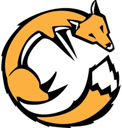 Curled fox vector