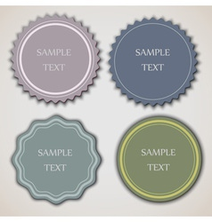 Four vintage labels vector image