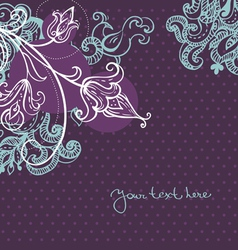 Abstract floral background with bird vector image