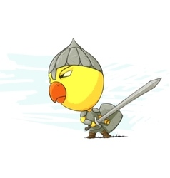 angry chicken warrior vector image vector image