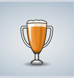 Beer bowl vector