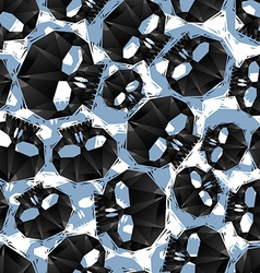 Black skulls seamless pattern geometric vector image