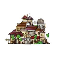 Cartoon construction town vector