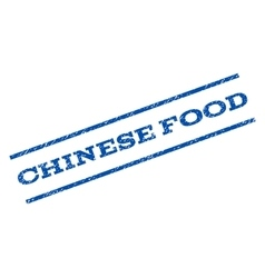 Chinese food watermark stamp vector