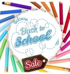Colorful pencils school Sale EPS 10 vector image