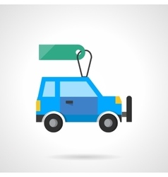 Flat design auto with tag icon vector image vector image