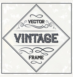 Frame - vintage text decoration monogram vector
