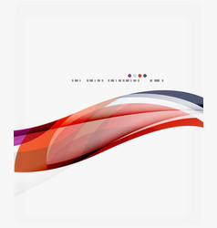 Modern geometric wavy shapes on light vector
