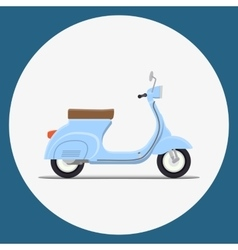 Moped flat vector