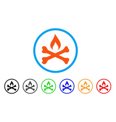 Mortal ignition rounded icon vector