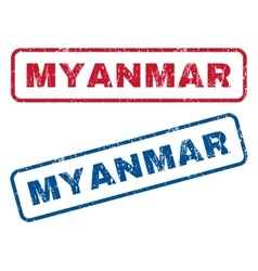 Myanmar rubber stamps vector