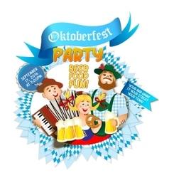 Oktoberfest party flyer vector