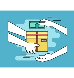 Payment by cash for express delivery vector image vector image