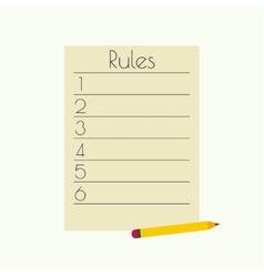 Rule list vector