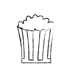 Sketch pop corn snack celebration image vector