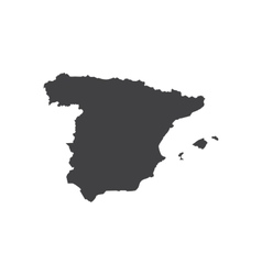 Spain map silhouette vector