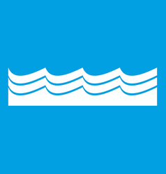 Water icon white vector