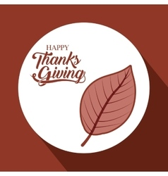 Leaf of thanks given design vector