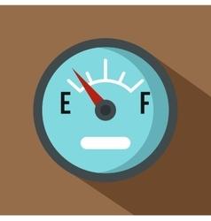 Automobile fuel sensor icon flat style vector