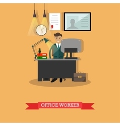 Office worker at his vector