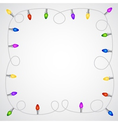 Christmas garland with colorful light bulbs vector