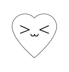 Kawaii heart health care cardiology vector