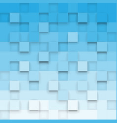 Geometric background with 3d cubes vector
