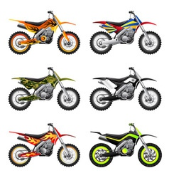 Sport motorcycles set vector